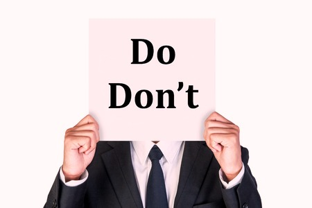 Do's and Don'ts for recently separated family law clients