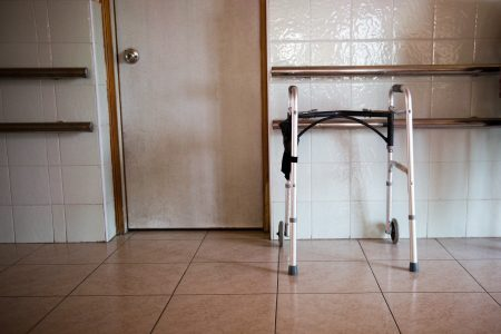Should nursing home doors be locked?